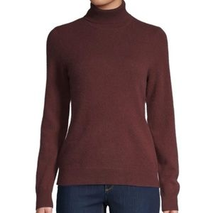 NEW-Lord & Taylor Cashmere Turtleneck Sweater LG